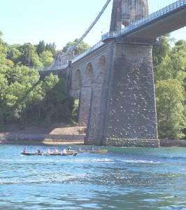 Under the Britannia Bridge