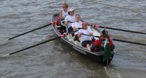 Ladies crew setting off