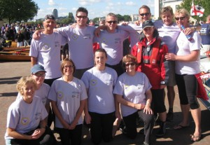 The crews before the race