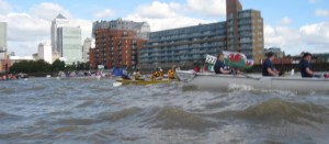 Rough water at the start