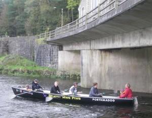Maxine, Llinos, Geoff, Sarah, Rob with passengers Brenig and Alow