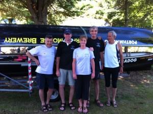 The winning supervet's crew, Geoff, Edw, Tina, Bill and Simon