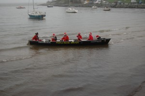 6 Santas in a longboat?