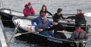 Two crews getting ready to race