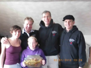 The 2012 Frosty Fish winning crew