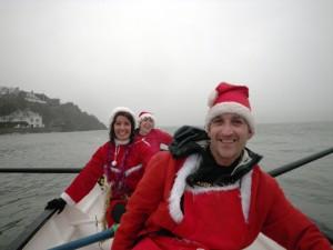 Happy oarsmen