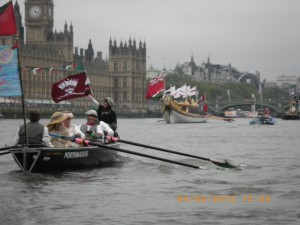 Fleetwing with the Palace of Westminster and Gloriana in the background