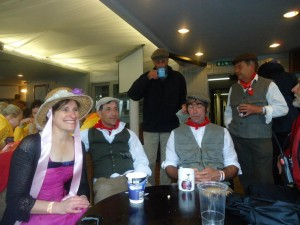 Coffee before the start - Elaine, Pete, Bill, Richard and Geoff