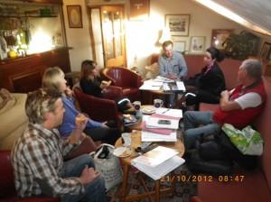 Bob, Les, Pippa, Heather, Geoff